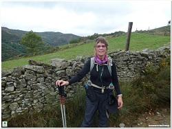 Ann on the trail