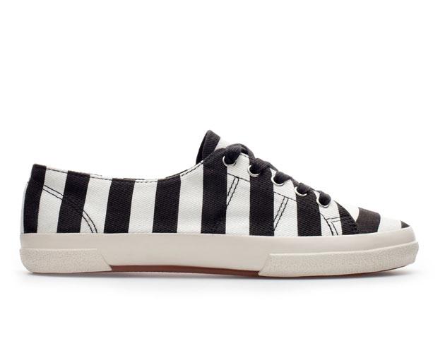 Striped Sneaker, $59.90, Zara