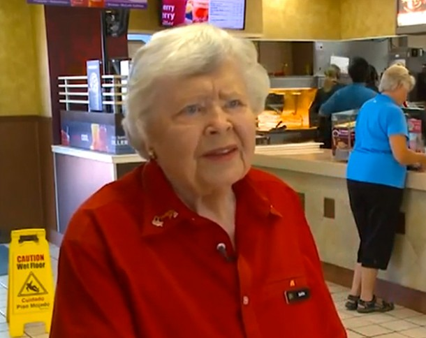 92-year-old McDonald's Employee