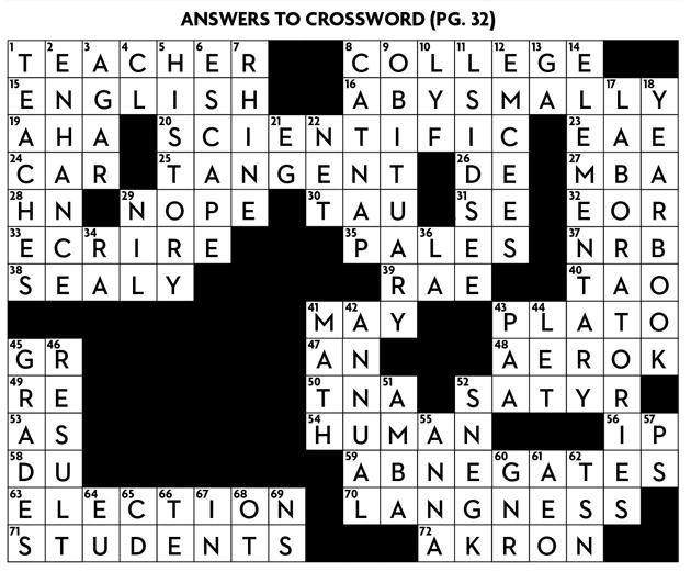 Crossword answers[1]