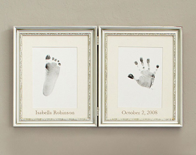 Silver Leaf Handprint & Footprint, Frame, 67.87, Pottery Barn