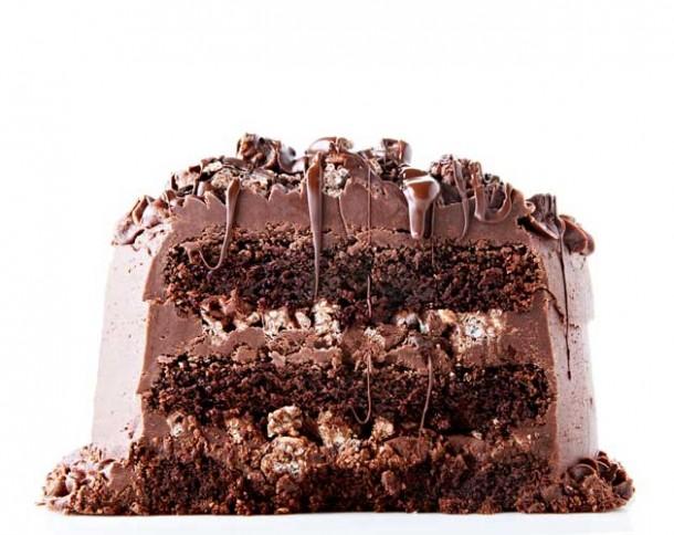 Decadent Chocolate Rice Krispie Crunch Cake Recipe