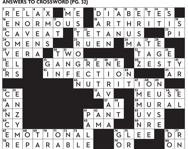 Health and Wellness: October 2013 Crossword Puzzle - Page