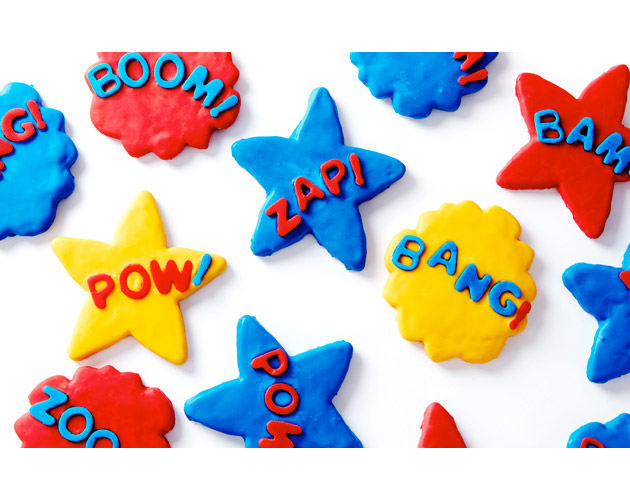 Superhero Sugar Cookies