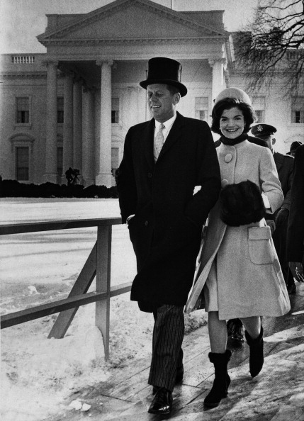 John F. Kennedy With His Wife Jacqueline