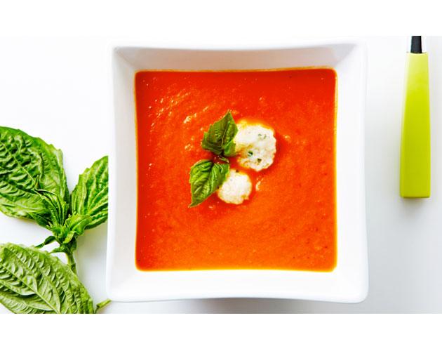 Easy Tomato Soup with Parmesan Dumplings