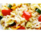 Roasted Vegetable Pasta Salad with Asiago Cheese