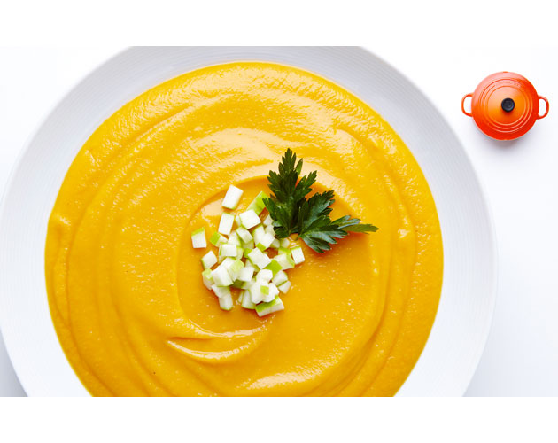 Roasted Sweet Potato, Parsnip, and Apple Soup