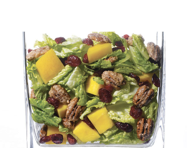 Mango, Cranberry, and Candied Pecan Salad