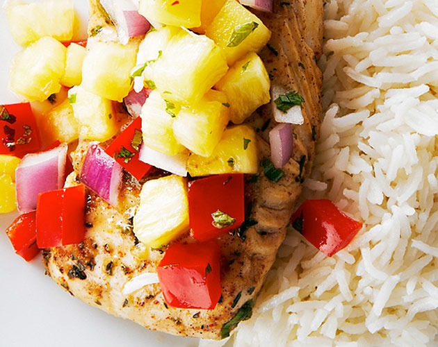 Jerk Cod with Coconut Rice