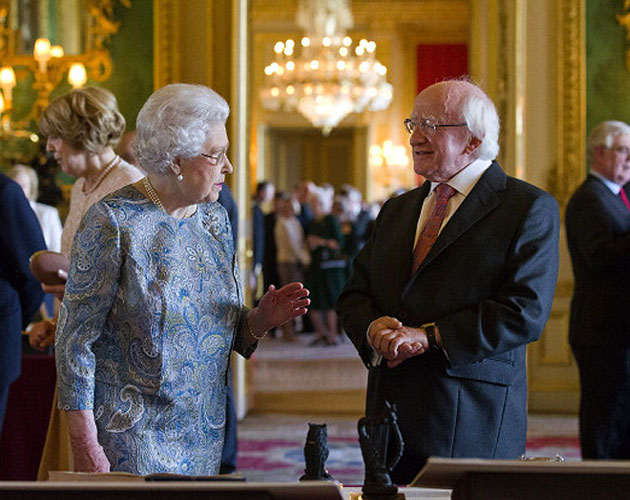 Queen Elizabeth, President Higgins