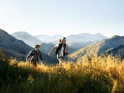 Hiking one of Queenstown's trails