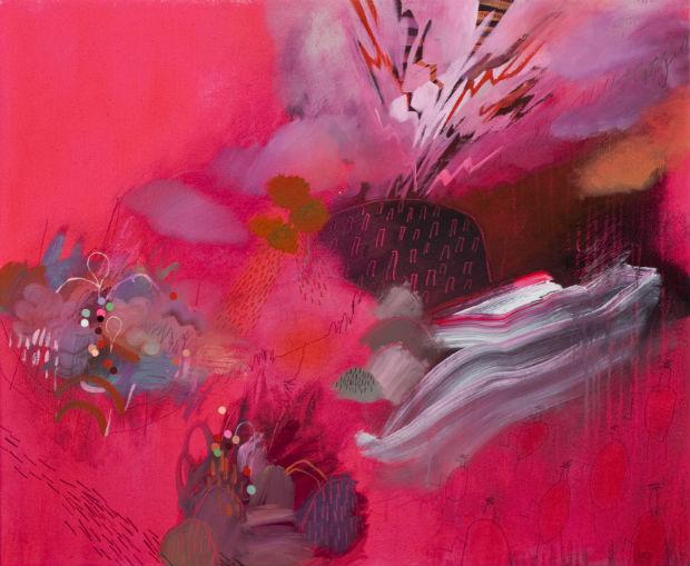 1Mayberry Fine  Art_Meghan Hildebrand_Cumberbund Longline Sunset Turncoat_2013_acrylic_30x36in_3300