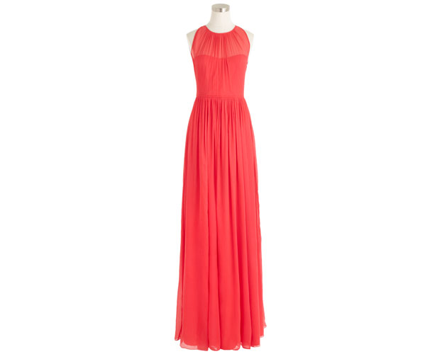 Megan-Long-Dress-in-Silk-Chiffon,-Strawberry_$424