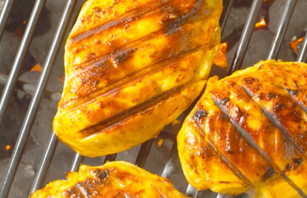 grilled chicken with sweet citrus sauce classic potato salad chicken ...