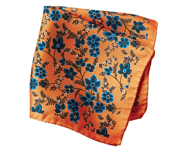 Eton floral silk pocket square, Harry Rosen