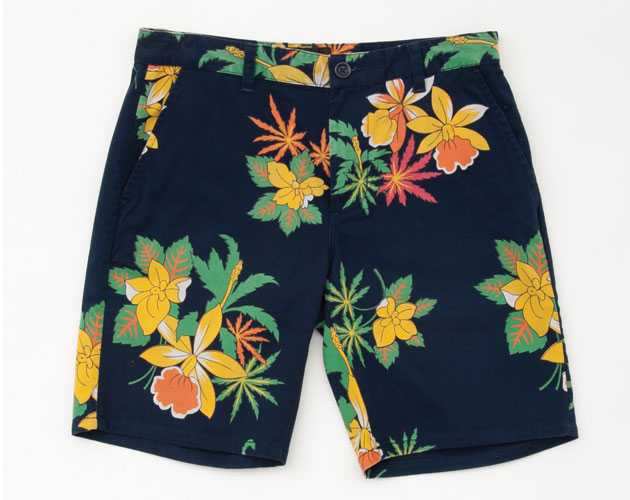 Floral shorts, www.obeyclothing.ca-