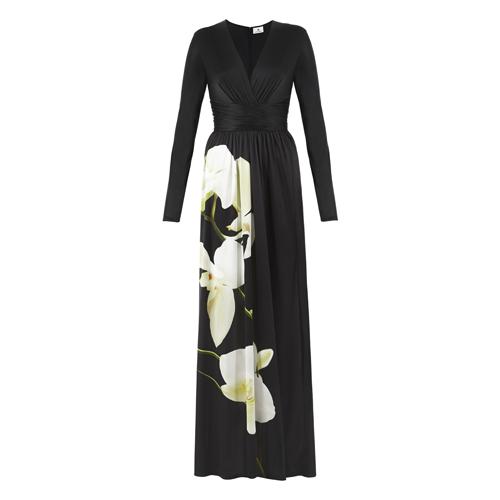 Maxi-Dress-in-Black-Orchid-Print-$69