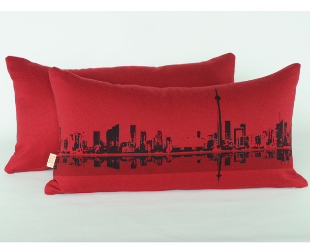 Toronto-pillow-_40-by-Emanuelle-Dion-&-Isabelle-Bergeron-Foutu-Tissu,-Montreal,-QC