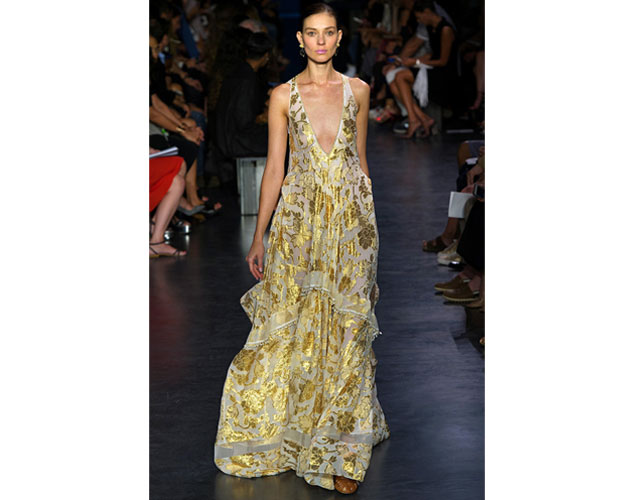 1. We nominate this gold embellished boho gown from Altuzzura for Amy Adams.