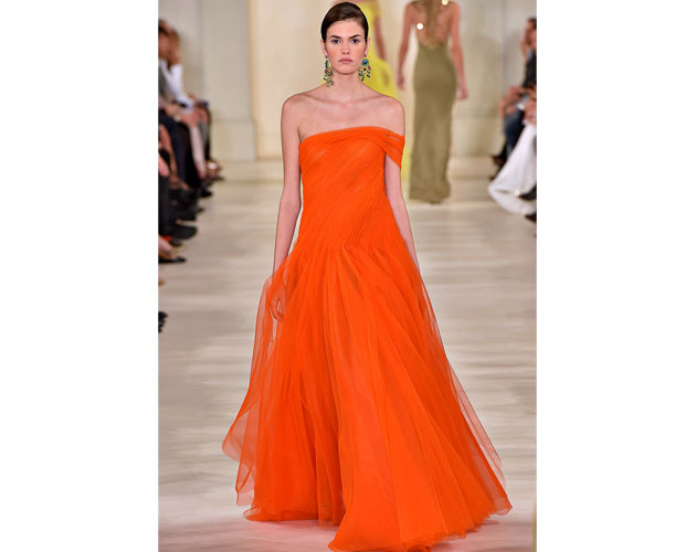 6. We nominate this citrus coloured gown from Ralph Lauren for Viola Davis.