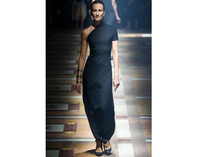 4. We nominate this sleek navy blue gown from Lanvin for Robin Wright.
