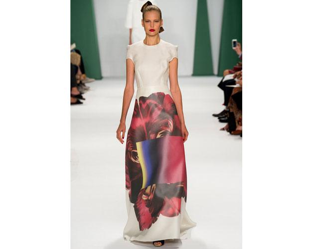 5. We nominate this modern floral dress from Carolina Herrera for Meryl Streep.