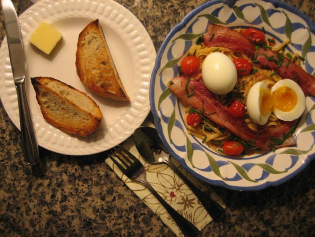 garden-bacon-&-egg-pasta