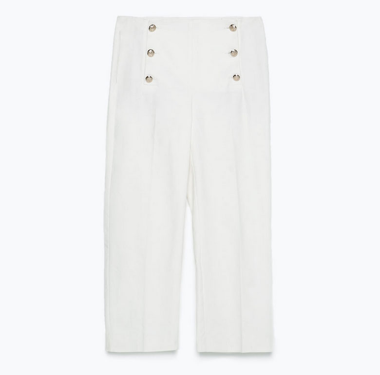 zara-gold-button-cropped-trousers