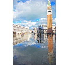 St. Mark's Square reflected in the acqua alta.