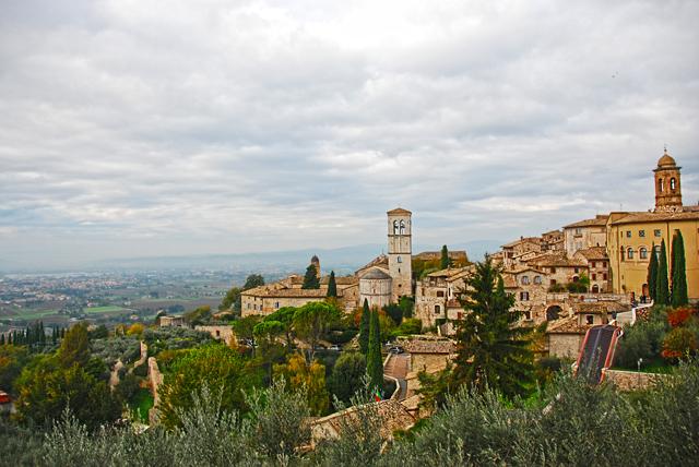 Assisi's picturesque hillside.