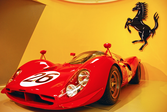 One of the many classic rides that greet visitors at the Museo Ferrari.