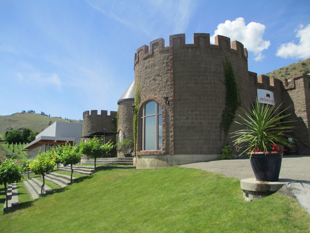Up at the castle at Road 13 vineyard