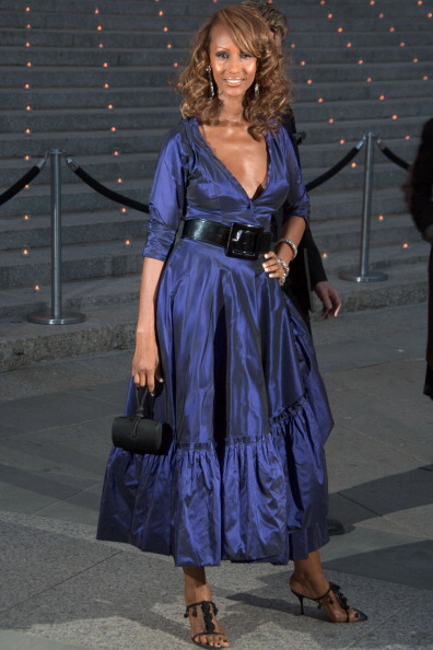Iman during 5th Annual Tribeca Film Festival - Vanity Fair Party - Arrivals at New York State Supreme Court in New York City, New York, United States. (Photo by Lawrence Lucier/FilmMagic)