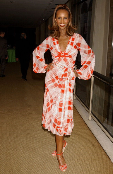 Iman during The Film Society of Lincoln Center Honors Susan Sarandon at Avery Fisher Hall in New York City, New York, United States. (Photo by Bill Davila/FilmMagic)