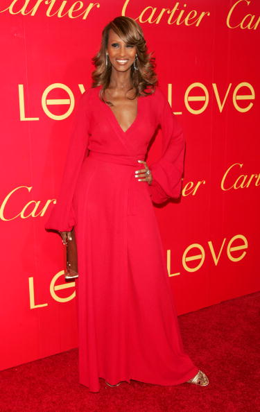"NEW YORK - JUNE 08: Model Iman attends the Cartier And Interview Magazine ""Celebrate Love"" party at the Cartier Mansion June 8, 2006 in New York City. (Photo by Peter Kramer/Getty Images)"