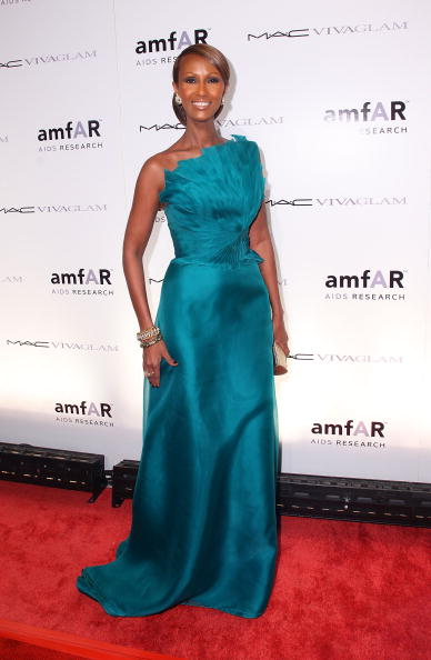 NEW YORK - FEBRUARY 10: Model Iman attends amfAR's New York City Gala to Kick Off Fall 2010 Fashion Week at Cipriani 42nd Street on February 10, 2010 in New York City. (Photo by Mike Coppola/FilmMagic)