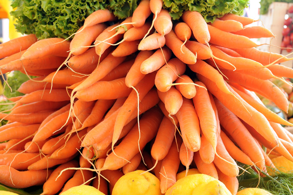 MILAN, ITALY - MAY 29:  Some carrots  are displayed during the Expo 2015 at Fiera Milano Rho on May 29, 2015 in Milan, Italy.  (Photo by Pier Marco Tacca/Getty Images)