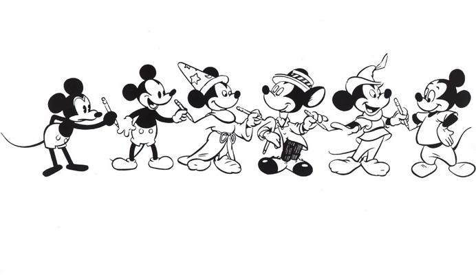 Mickey Mouse, Rückblick, Comic, Zeichentrick, Veränderung, †berb