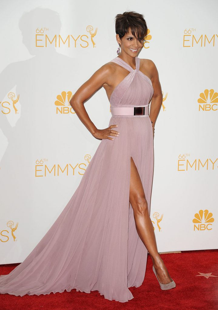 LOS ANGELES, CA - AUGUST 25: Actress Halle Berry poses in the press room at the 66th annual Primetime Emmy Awards at Nokia Theatre L.A. Live on August 25, 2014 in Los Angeles, California. (Photo by Jason LaVeris/FilmMagic)