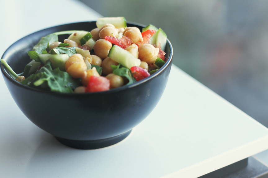small Chickpea Salad