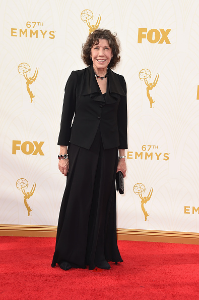 LOS ANGELES, CA - SEPTEMBER 20: Actress Lily Tomlin attends the 67th Annual Primetime Emmy Awards at Microsoft Theater on September 20, 2015 in Los Angeles, California. (Photo by Steve Granitz/WireImage)