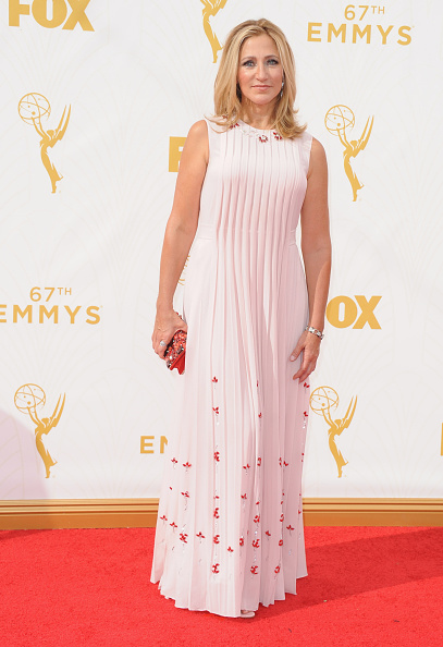 LOS ANGELES, CA - SEPTEMBER 20: Actress Edie Falco arrives at the 67th Annual Primetime Emmy Awards at Microsoft Theater on September 20, 2015 in Los Angeles, California. (Photo by Jon Kopaloff/FilmMagic)