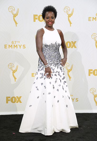 LOS ANGELES, CA - SEPTEMBER 20: Actress Viola Davis, winner of Outstanding Lead Actress in a Drama Series for 'How to Get Away With Murder,' poses in the press room at the 67th Annual Primetime Emmy Awards at Microsoft Theater on September 20, 2015 in Los Angeles, California. (Photo by Michael Kovac/Getty Images for AXN)