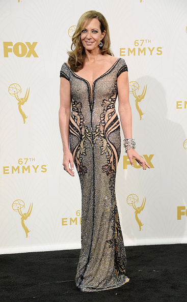 LOS ANGELES, CA - SEPTEMBER 20: Actress Allison Janney, winner of Outstanding Supporting Actress in a Comedy Series for 'Mom', poses in the press room at the 67th Annual Primetime Emmy Awards at Microsoft Theater on September 20, 2015 in Los Angeles, California. (Photo by Michael Kovac/Getty Images for AXN)