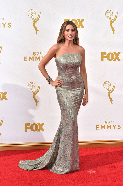 LOS ANGELES, CA - SEPTEMBER 20: Sofia Vergara attends the 67th Annual Primetime Emmy Awards at Microsoft Theater on September 20, 2015 in Los Angeles, California. (Photo by C Flanigan/Getty Images)