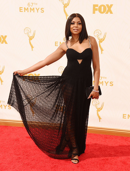 LOS ANGELES, CA - SEPTEMBER 20: Actress Taraji P. Henson attends the 67th Annual Primetime Emmy Awards at Microsoft Theater on September 20, 2015 in Los Angeles, California.(Photo by Jeffrey Mayer/WireImage) *** Local caption *** Taraji P. Henson