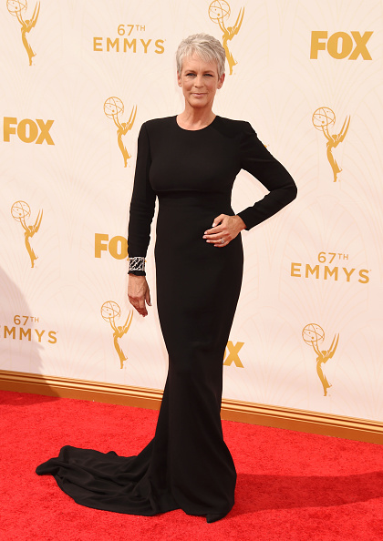 LOS ANGELES, CA - SEPTEMBER 20: Actress Jamie Lee Curtis attends the 67th Annual Primetime Emmy Awards at Microsoft Theater on September 20, 2015 in Los Angeles, California.(Photo by Jeffrey Mayer/WireImage)