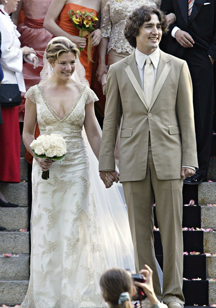 Justin Trudeau, son of the late Prime Minister Pierre Trudeau, leaves the church his new bride Sophie Gregoire after their marriage ceremony in Montreal Saturday, May 28, 2005.(CP PHOTO/Ryan Remiorz)