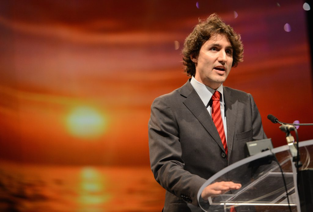 TORONTO, ON - DECEMBER 22: Liberal Party of Canada's leadership candidate, Justin Trudeau, delivers a speech and then shakes hands at the Reviving Islamic Spirit Conference in Toronto. on Dec 22 2012.(Vince Talotta/Toronto Star)